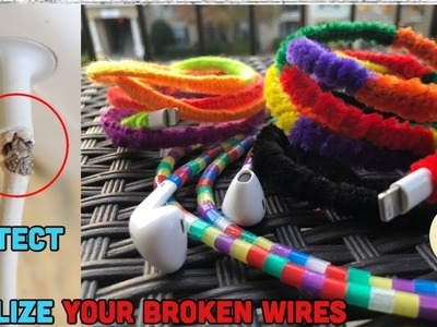 3 cool hacks to fix your charger. head phone cable I Turn it stylish | Fix and Protect for life |
