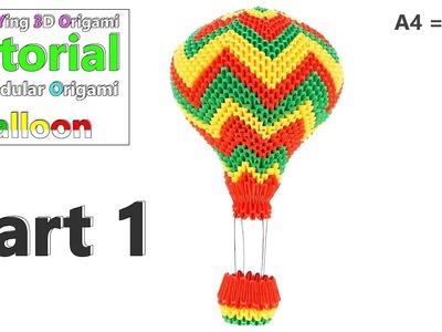 3D Origami Balloon Tutorial - Part 1 - Ultra HD 4K - A4 (1.32)