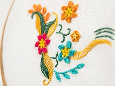 Beautiful ways to stitch Hand Embroidery Flowers by DIY Stitching