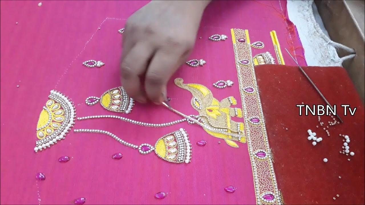 Blouse Designs For Pattu Sarees Aari Work Blouse Designs With Price