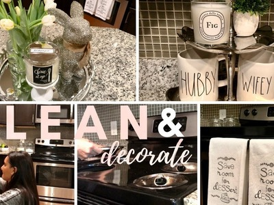 CLEAN & DECORATE WITH ME 2018 | extreme cleaning motivation