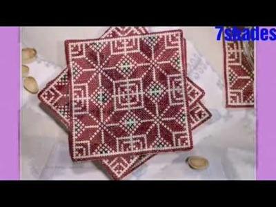 Cross stitch  for sofa & pillow cover. dosuti design