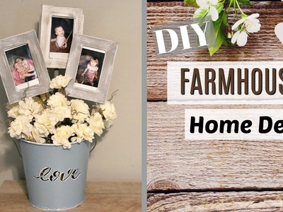 Cute Farmhouse Decor DIY | Farmhouse Decor Dollar Tree | DIY Farmhouse Photo Idea