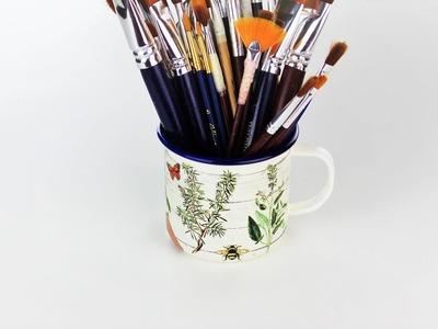 Decoupage mug - painted  mug - Decoupage tutorial - DIY - Easy diy - Do It Yourself