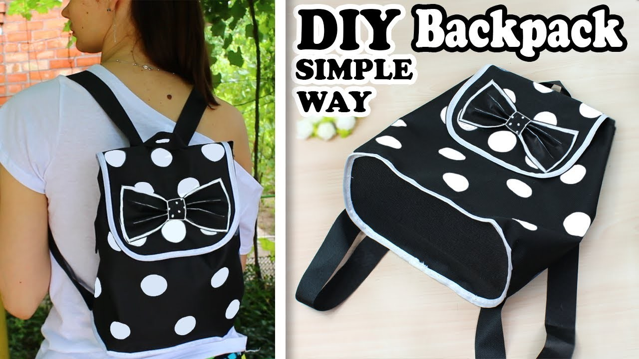 DIY BACKPACK TUTORIAL DURING 30 MIN SIMPLE WAY | Dotted Backpack