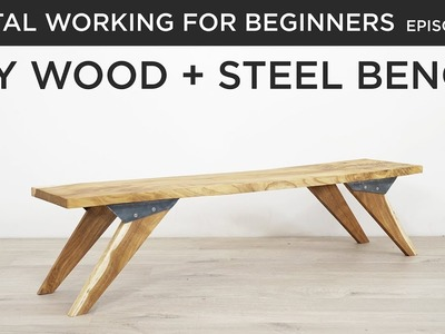 DIY Bench with Custom Steel Hardware | Metal Working for Beginners
