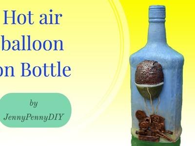 DIY bottle decoration|bottle decorating ideas|bottle craft|bottle art|hot air balloon|steampunk