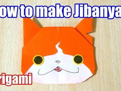 【DIY craft】How to make JIBANYAN Yo-Kai Watch. Origami. The art of folding paper.