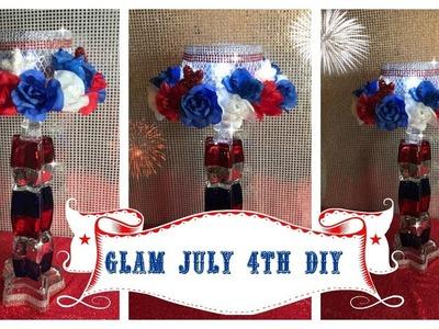 DIY DOLLAR TREE HOME DECOR GLAM JULY 4TH DIY - COLLAB 2018