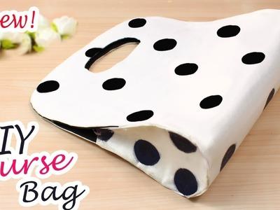 DIY DOTTED PURSE BAG | Zipper Handbag Idea for Summer 2018 AWESOME