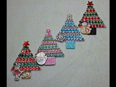 DIY~Make Sweet Little Christmas Embellishments With D T  Materials!