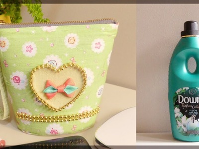DIY POUCH: Easy No Sew Pouch from Plastic Bottle