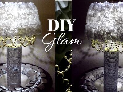 Dollar Tree DIY Glam Lamp| DIY Dollar Tree Bling Elegant Desk Lamp. DIY Dollar Tree Glam Lamp