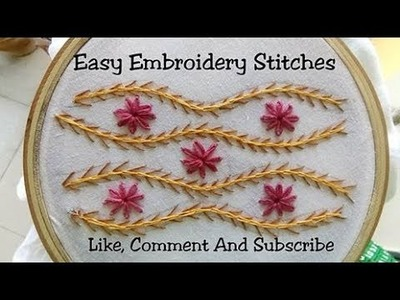 Easy And Beautiful Embroidery Stitches (Lehriya Wave Design)