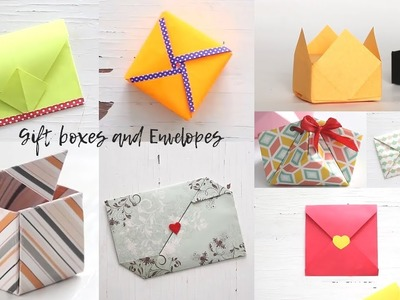 Easy Gift Boxes and Envelopes | Gift Ideas | Ventunoart Compilation