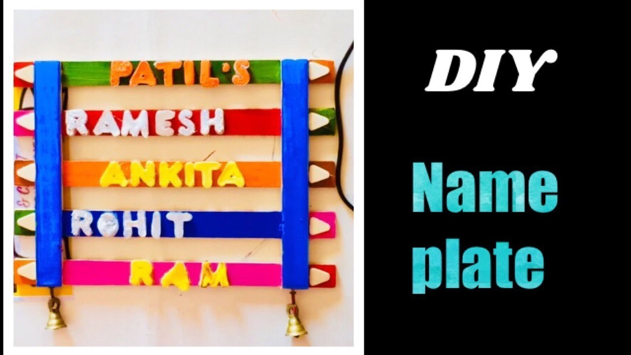 Easy To Diy Name Plate At Home Easy Wooden Name Plate Best Of Waste