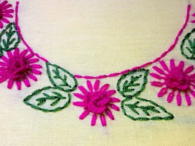 Hand Embroidery Neck Design For Dresses And Blousesneck