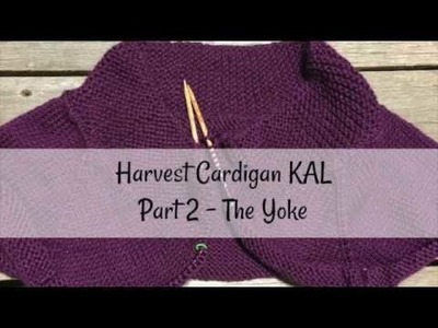 Harvest Cardigan Knit Along Part 2 - The Yoke
