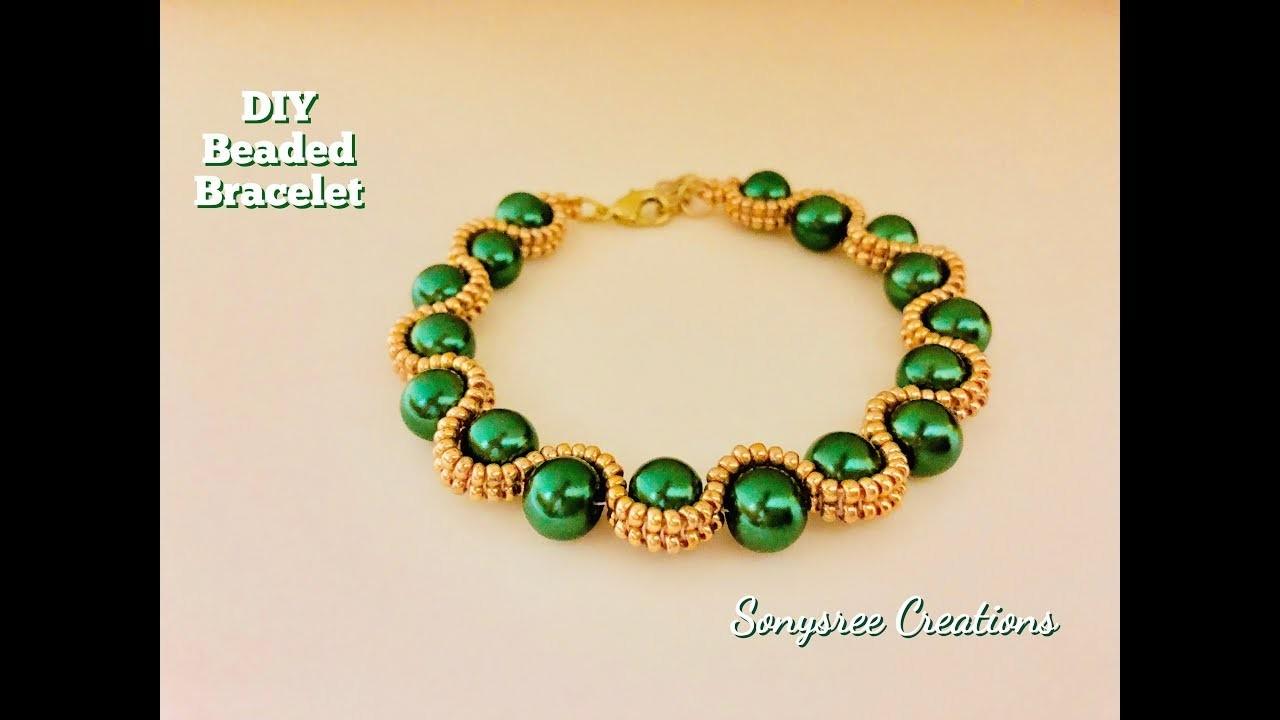 Herringbone Beaded Bracelet .How to make beaded bracelet DIY Bracelet ????