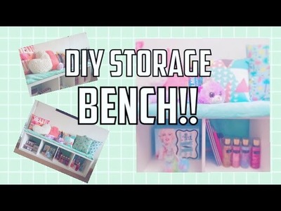 HOW I DECORATED MY BENCH. DIY storage bench