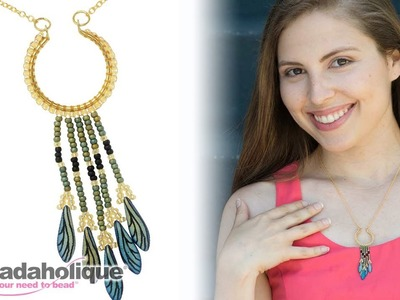How to Make a Fringe Necklace with Miyuki Round Seed Beads and Dagger Beads