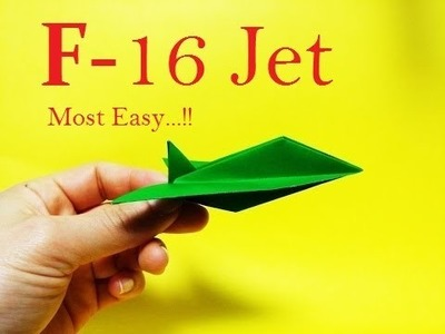 How to make F-16 Jet with paper.