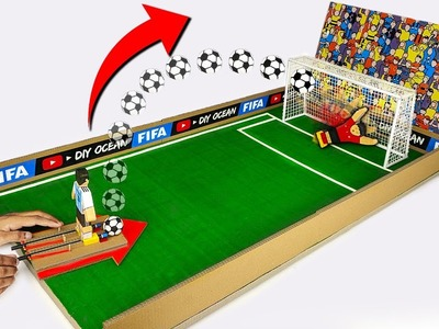 How to make FIFA Penalty Football Board GAME from Cardboard DIY at HOME World Cup 2018