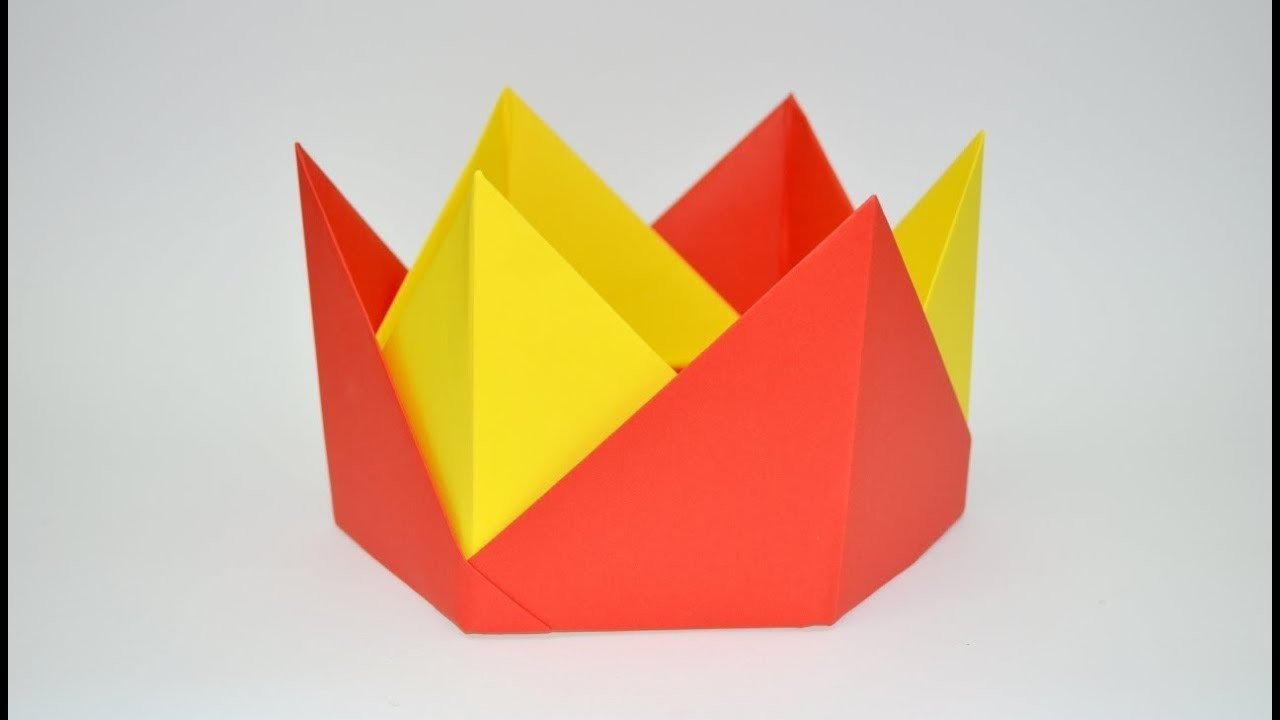 How To Make Paper Crown Origami