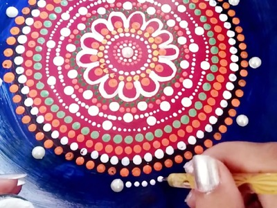 How to recycle old plate into decorative plate with mandala dot art