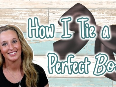 How to Tie the PERFECT Bow | Simple Bow | Easy way to Tie a Bow