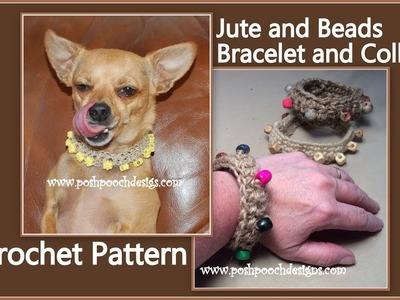 Jute and Beads Bracelet and Collar