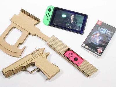 NintendoLabo!! Resident Evil  Make a M1911 & ax controller  バイオハザードのToy-Con作った!