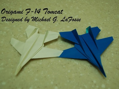 Origami F-14 Tomcat Fighter Jet Video. 종이접기 비행기 전투기 접는 방법 동영상