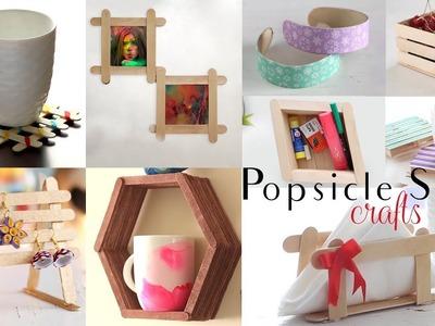 Top 10 DIY Popsicle Stick Craft Compilation   Craft Ideas   Home Decor