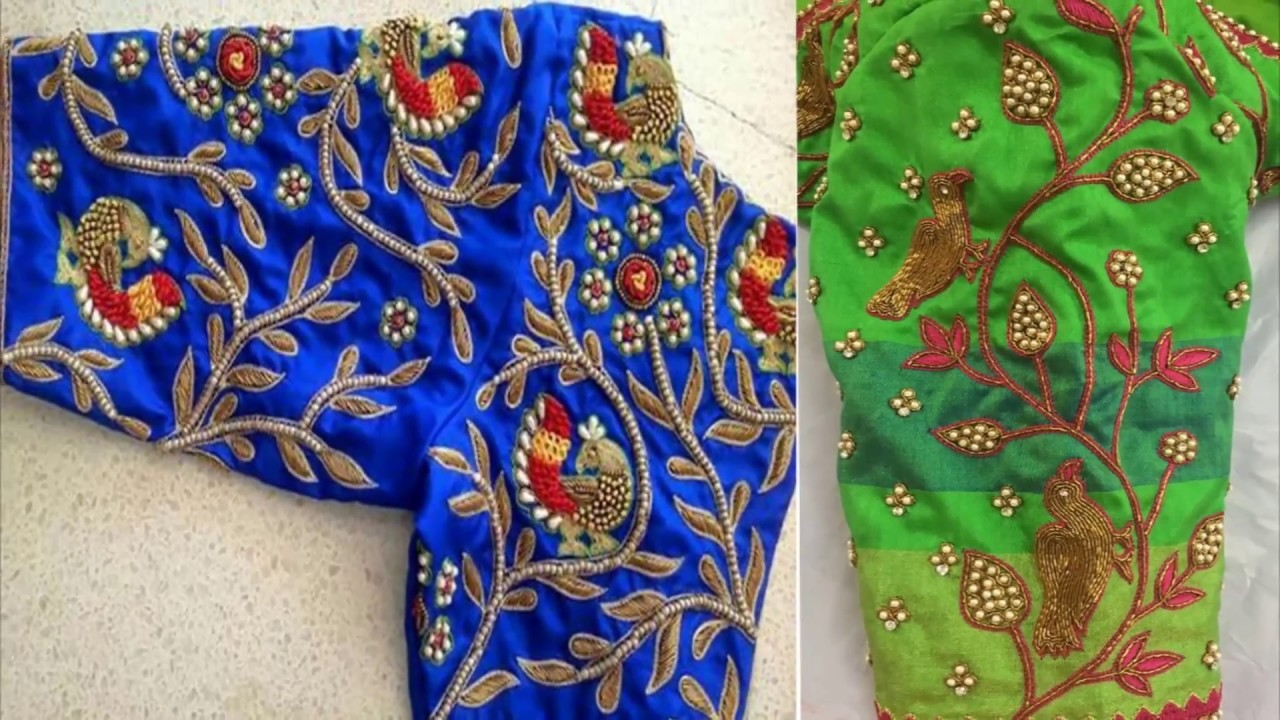Very Impressive Thread Work Blouse Designs Blouse Designs For Pattu