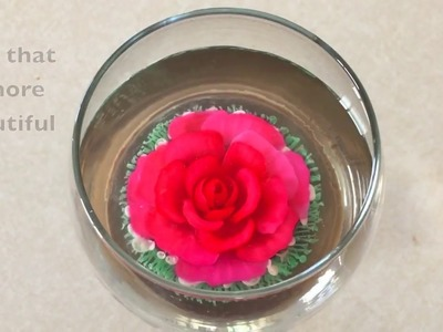 3D GELATIN ROSE AND BUTTERFLY IN A WINE GLASS