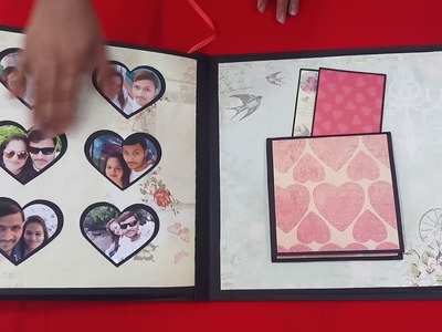 Anniversary scrapbook made with love.  can b customized with any themes