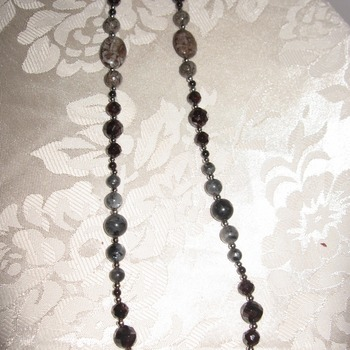 Brand New Handmade Red and Brown Gemstone Necklace