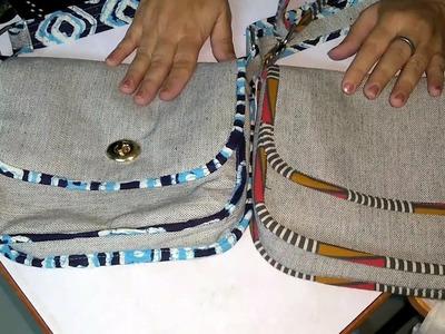 DIY Crossbody Bag cum Purse, Comments WA 7715021990, पर्स भी और स्लिंग बॅग भी, 6 Pocket Sling bag