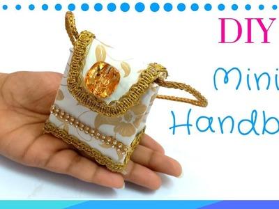 DIY Easy Miniature handbag Tutorial | Miniature Money purse making !