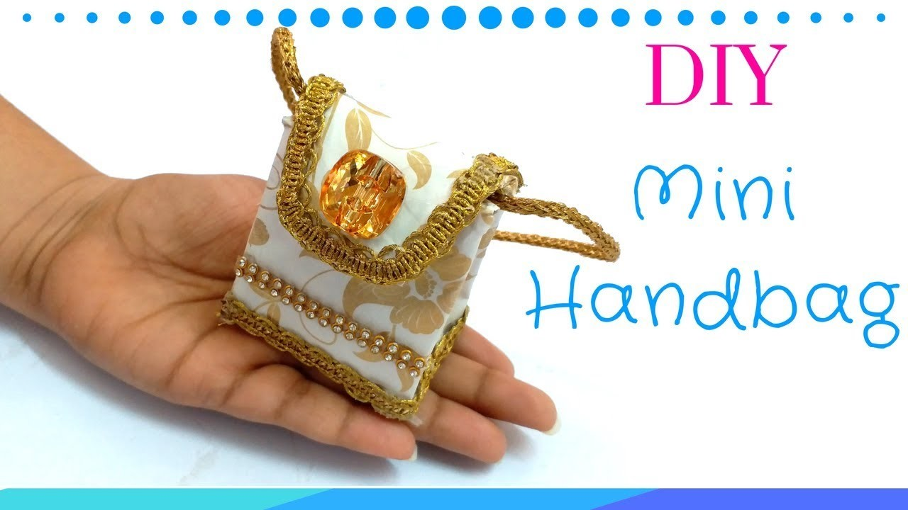 DIY Easy Miniature handbag Tutorial   Miniature Money purse making !
