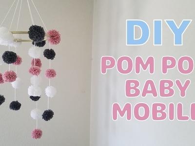 DIY Pom Pom Baby Mobile (Nursery Decoration)