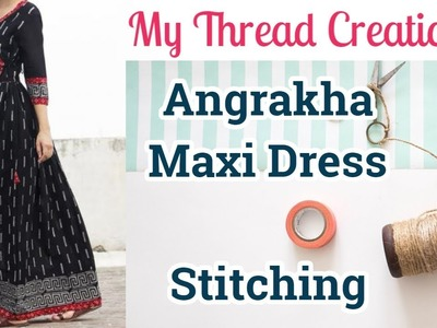 Easy DIY Angrakha Dress With Gathers Stitching Angrakha Style Maxi dress #angrakhadress #maxidress