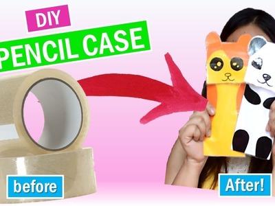 EASY DIY PENCIL CASE USING CLEAR TAPE! || BACK TO SCHOOL DIYs SERIES
