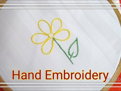 Hand Embroidery for Beginners - Part 2 | Back Stitch Tutorial Step by Step