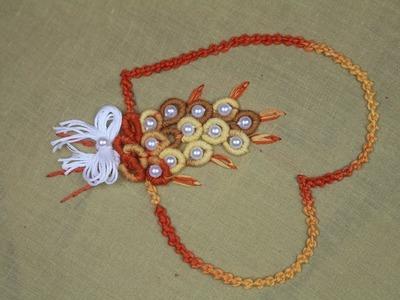 Button Hole Ruffle Stitch Kaj Tanka Hand Embroidery