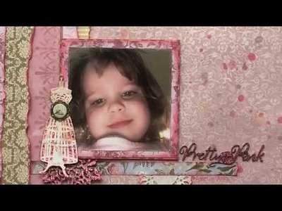 Hot Foiling Scrapbook Layout by Alicia Redshaw for Couture Creations