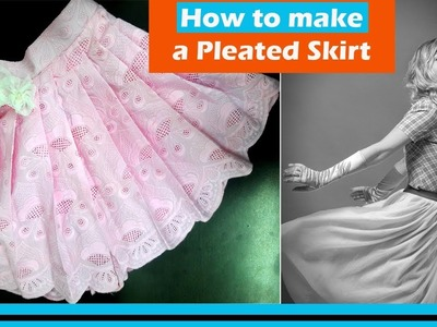How to make a Pleated Skirt| Full Tutorial | In Hindi | English subtitles