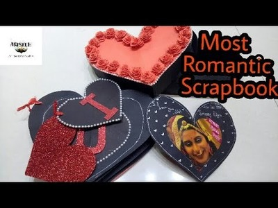 Love scrapbook || Heart shape scrapbook || Romantic couple scrapbook