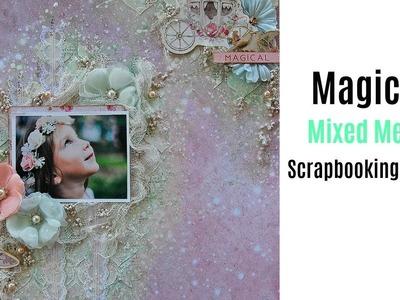 Magical Mixed Media Scrapbook Layout Tutorial-SS- My Creative Scrapbook